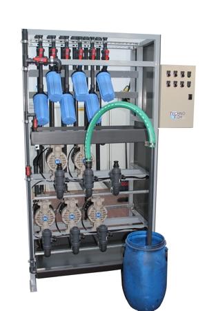 Centralina di carico prodotti fluidi con pompe e filtri