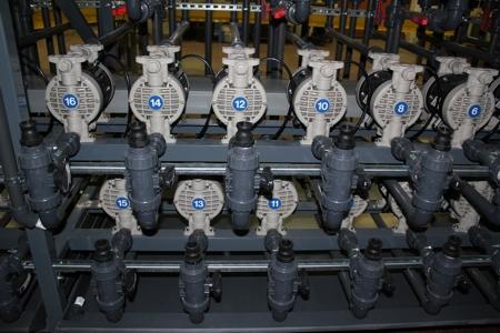 Centralina di carico prodotti con pompe